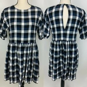 Urban Outfitters A Line Plaid Dress Small
